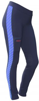 Reflect-O Endurance Riding Tights Schwarz Blau Gr. L